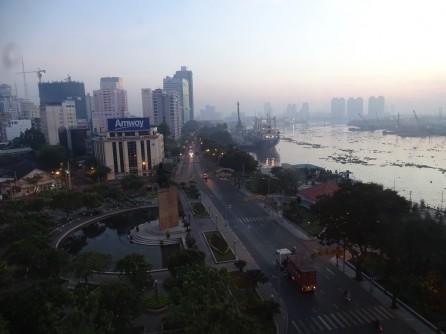 vista desde la terraza del hotel Marriot Saigon