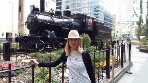 Locomotora de la Railway Canadian Pacific. Calgary