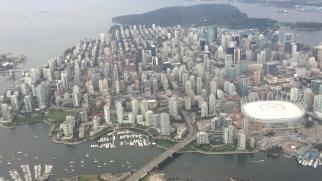 Vista de Vancouver en hidroavión
