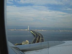 Entrada a isla-aeropuerto de Kansai, Osaka